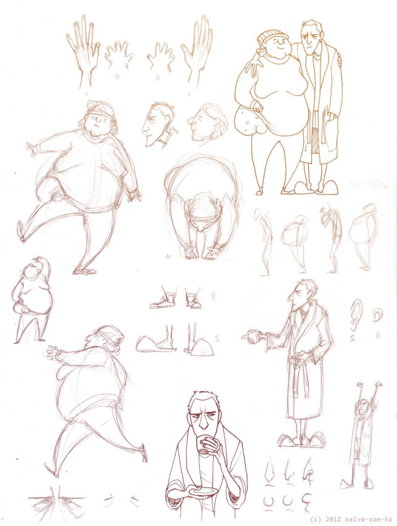 Character Development: Sandy and Betty by Jackarais