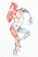 Poet dancin' by Jackarais