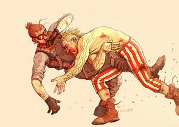 A BANDIT AND A SOLDIER GET BEAT UP by Jackarais