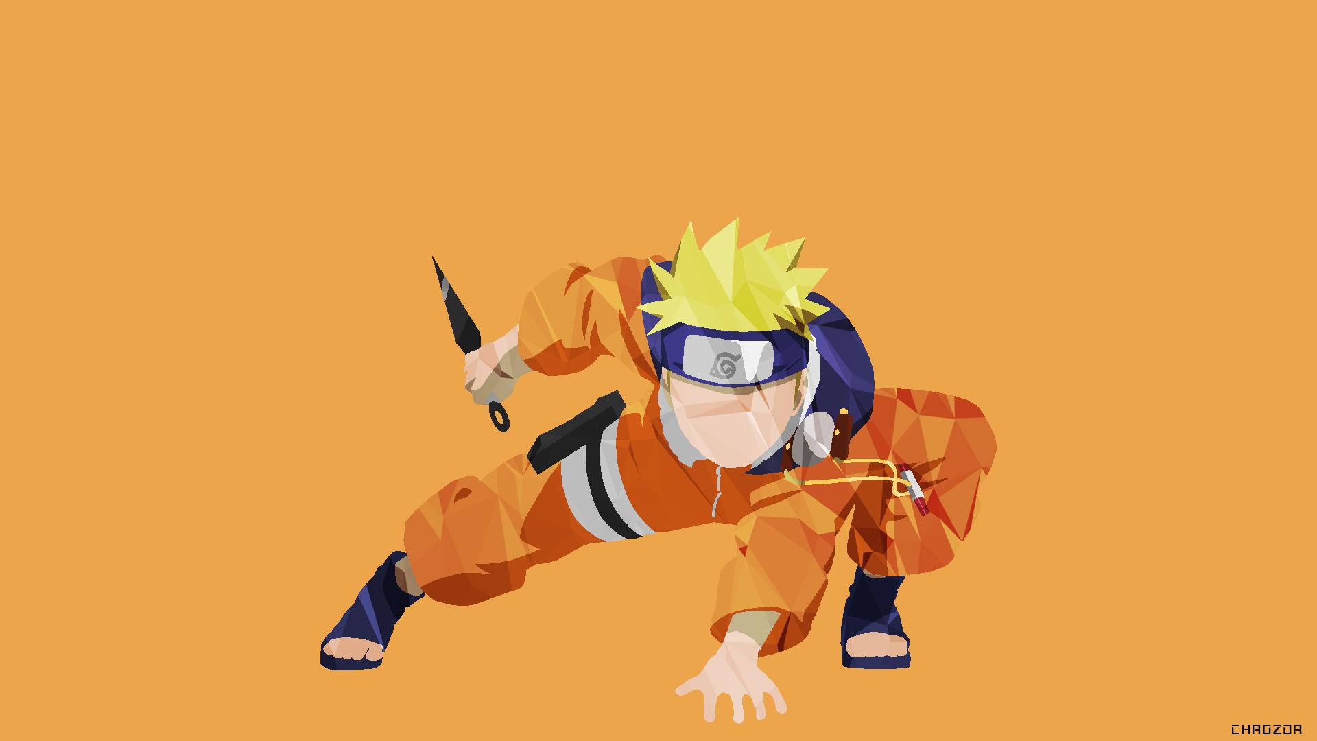 Minimalist Naruto Desktop Wallpaper