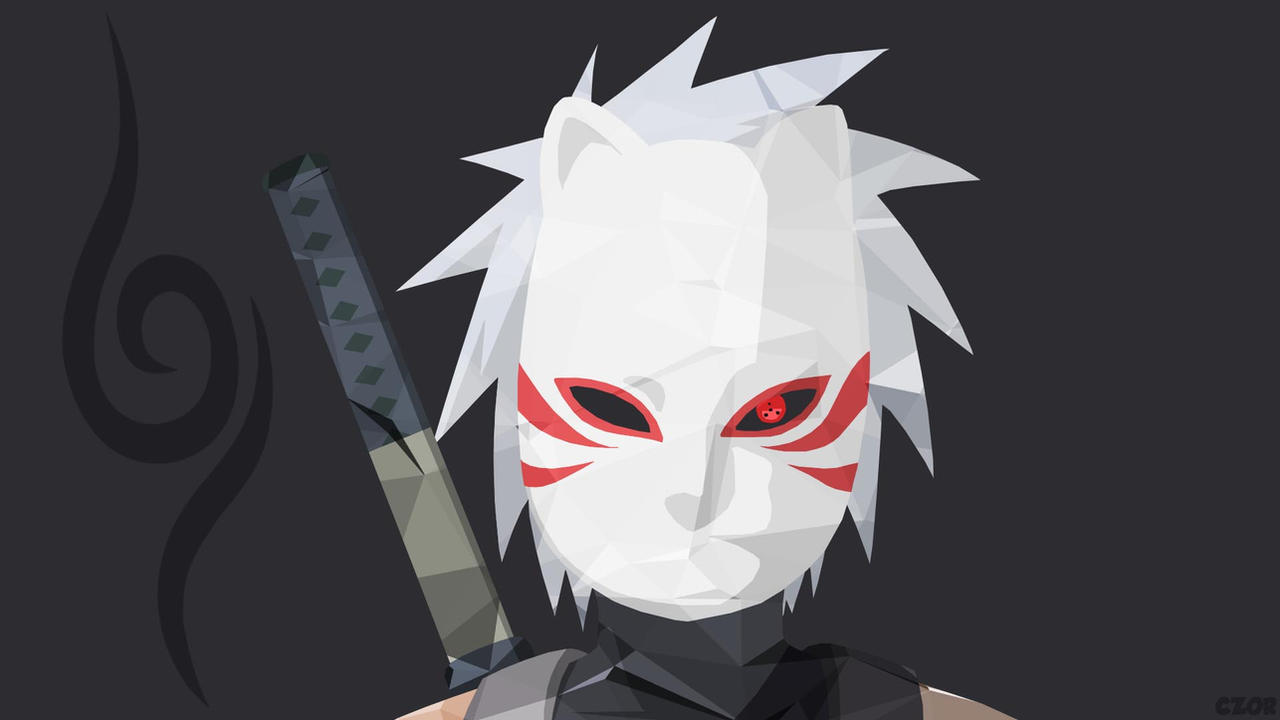 Kakashi Hatake Anbu Minimalist Wallpaper By Chad Zor On
