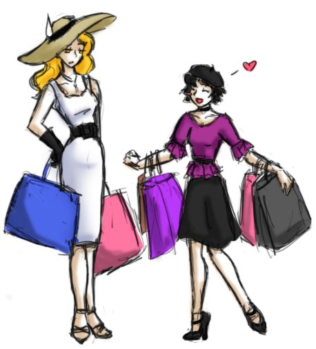 Shopping -Rosalie and Alice