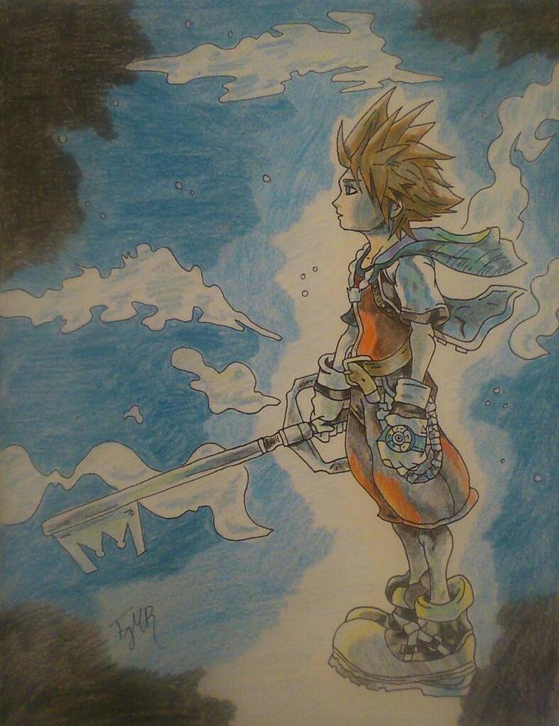 Sora Kingdom Hearts by tuningmoron