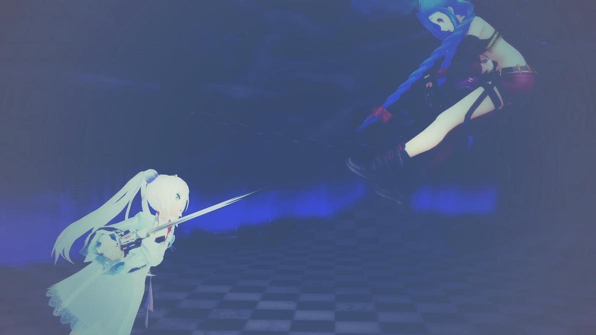 MMD - Jinx vs Weiss Schnee by YukiMaou