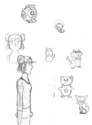 Pokemon Nuzlocke Black 2 Doodle Dump by aHollyWolfe