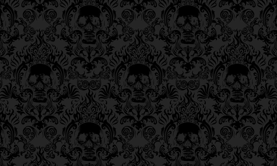 Skull Damask by spiderkid321 on DeviantArt