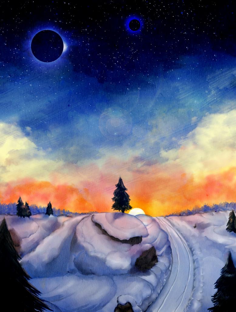 Winter Ridge landscape by Eziekbby