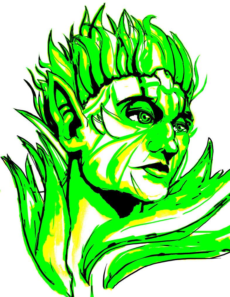Sylvari Color Sketch by Eziekbby