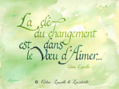 Calligraphie Changement