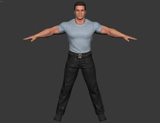 Arnold Schwarzenegger - WWE 2k16 (Xbox-360) by elonir