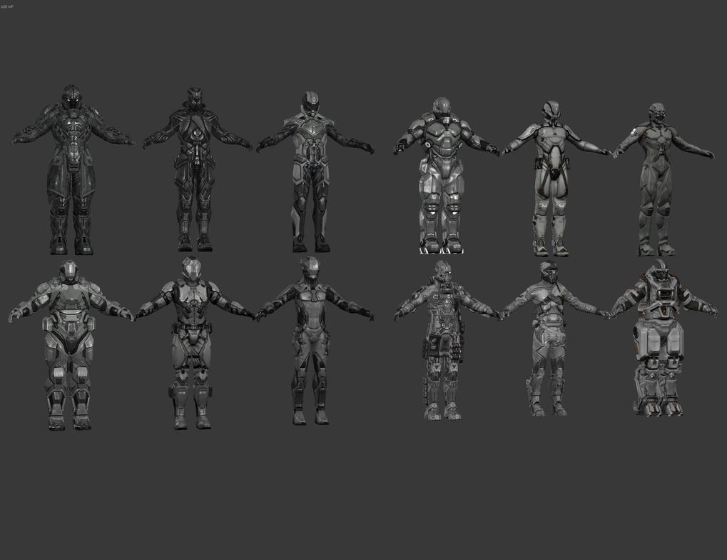 DUST 514 - Male Drop Suits by elonir