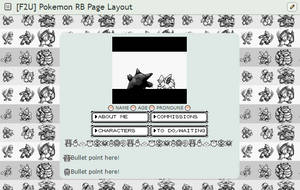 [F2U] Pokemon RB Retro Page Layout by anatiidae