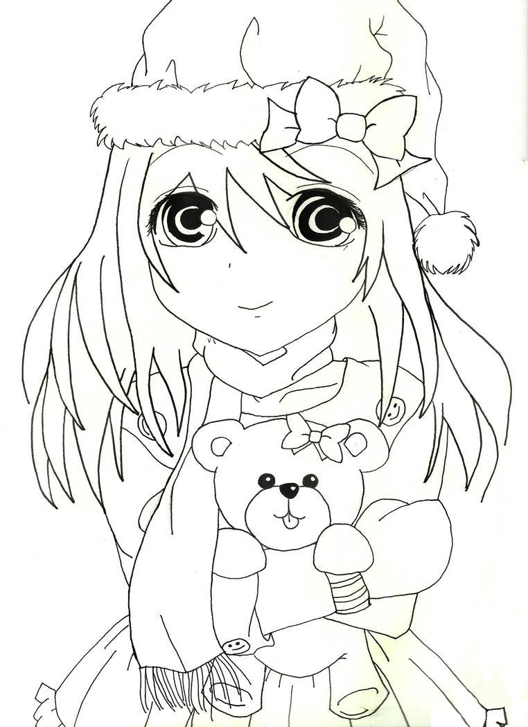 Usako.Christmas.LineArt by AnimeIsForever on DeviantArt