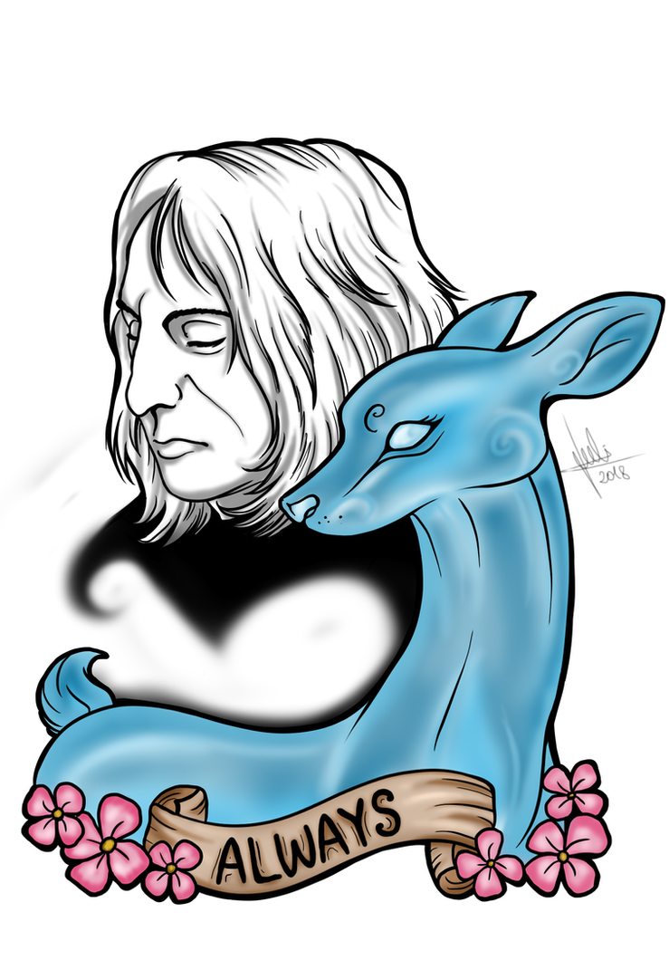 Severus Snape and Doe 'Always' by Julis-Rocks
