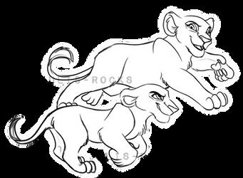 Playful Cubs YCH (No BG) by Julis-Rocks