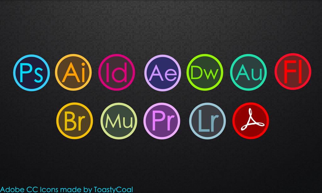 Adobe CC Flat Circular Icons by ToastyCoal on DeviantArt