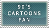 90's CARTOONS FAN stamp