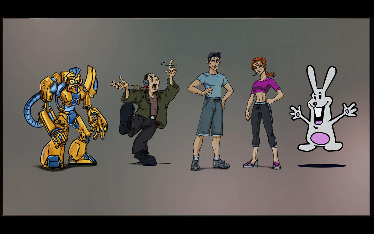 Character Design Presentation : Cartoon presentation of diffrent character designs by