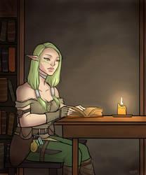 Quiet Study by GlassSeraph