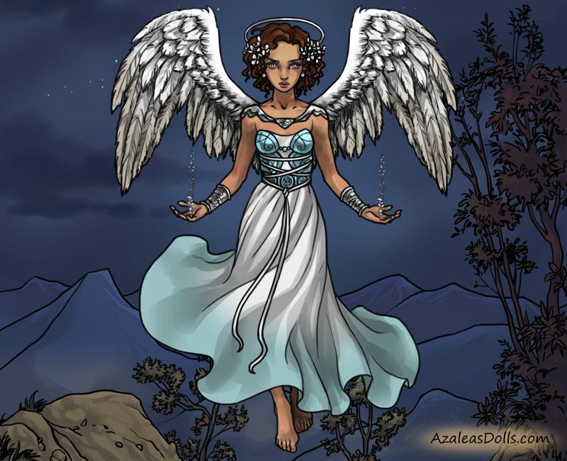 DT Angel AU - Serena, Angel of Winter by GlassSeraph