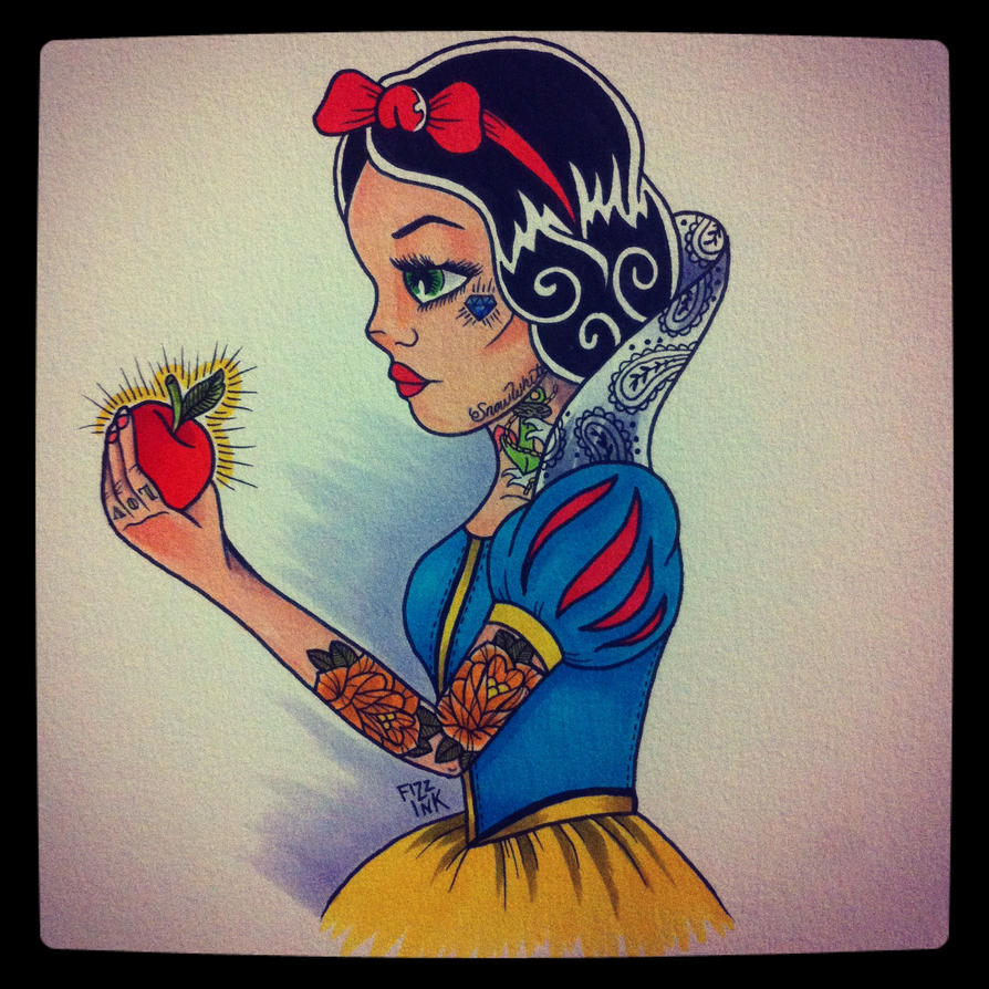 Tattooed Snow White By FIZZINK On DeviantArt