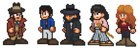 Lupin Gang and Zenigata (Blue Jacket Series Ver.) by penguintruth