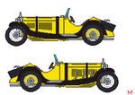 Lupin III's Mercedes SSK