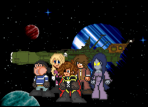 Captain Harlock Endless Odyssey Title Card by penguintruth