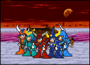 Ronin Warriors Title Card by penguintruth