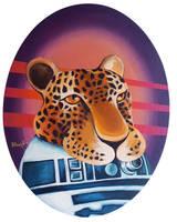 r2D2 in a Jaguar Mask by TrampLamps