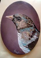 Bird on Purple by TrampLamps