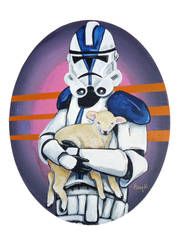 Special Ops trooper with baby Lamb by TrampLamps