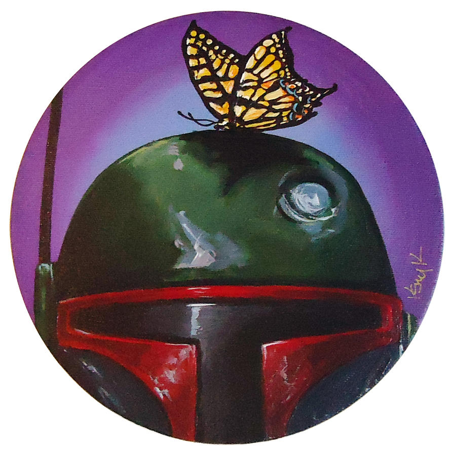 Boba Fett with Butterfly by TrampLamps