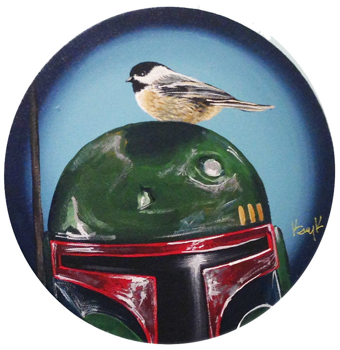 Boba Fett with Chickadee by TrampLamps