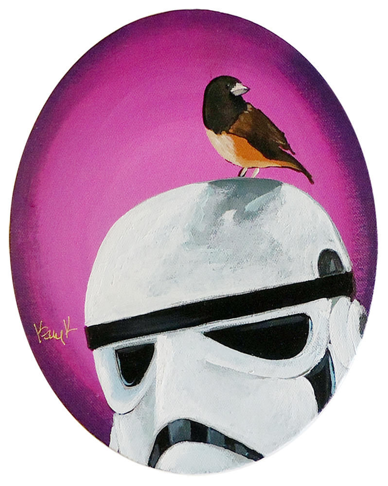 Stormtrooper with Bird by TrampLamps