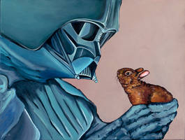 Darth Vader with small Baby Bunny (version 2)