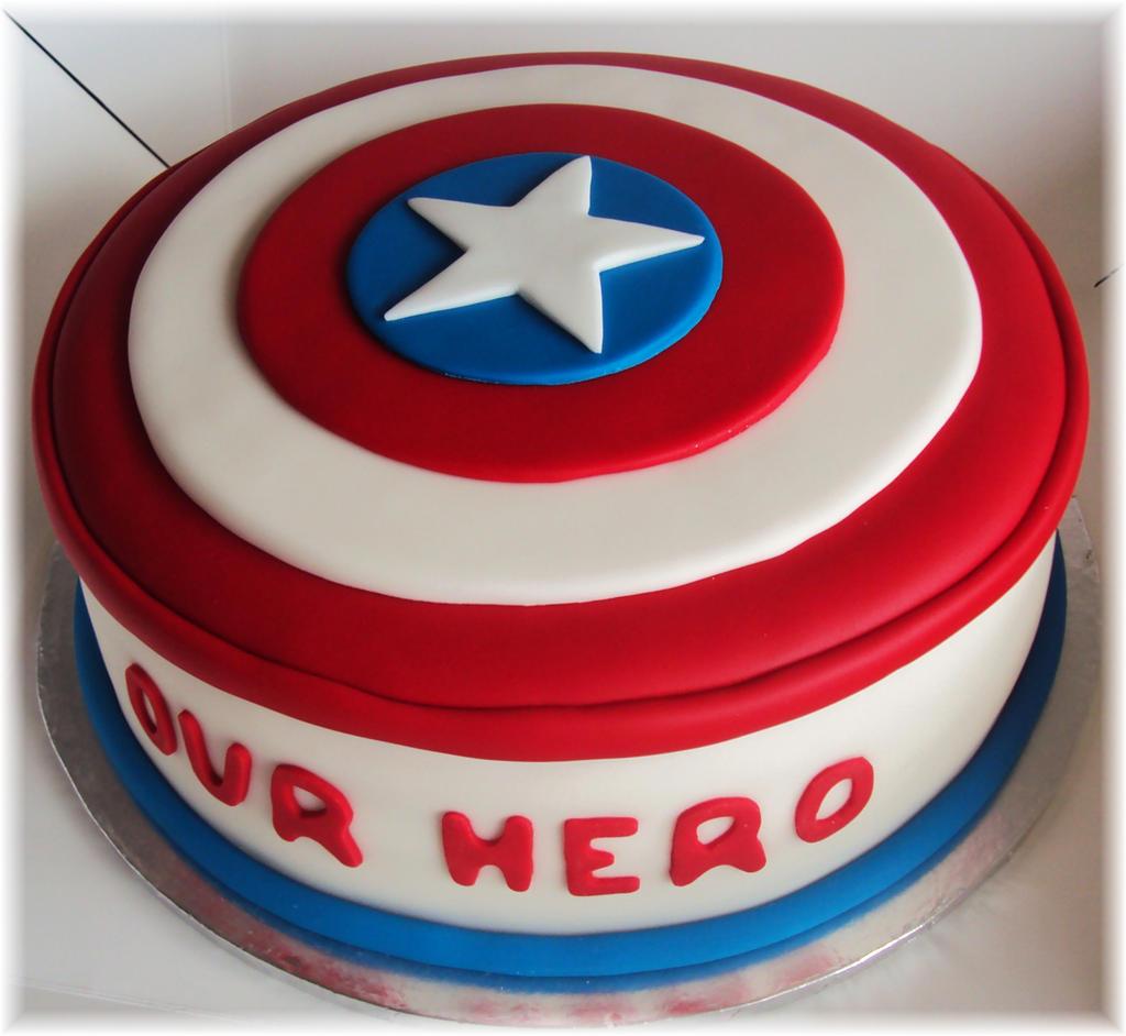 Captain America Avengers Shield Cake