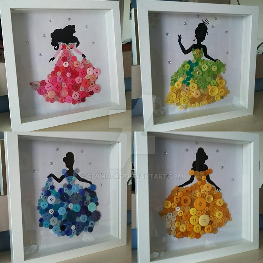 Disney Princess Button Pictures by clvmoore