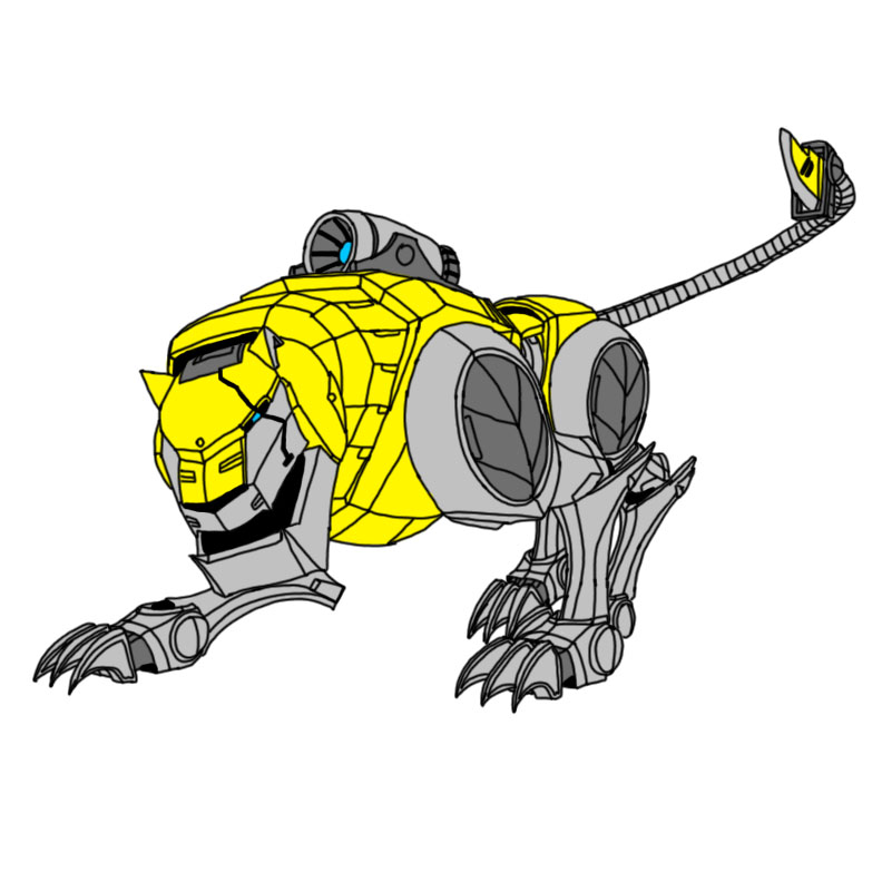 Voltron Force - Yellow Lion by W-DoubleVoltron Yellow Lion