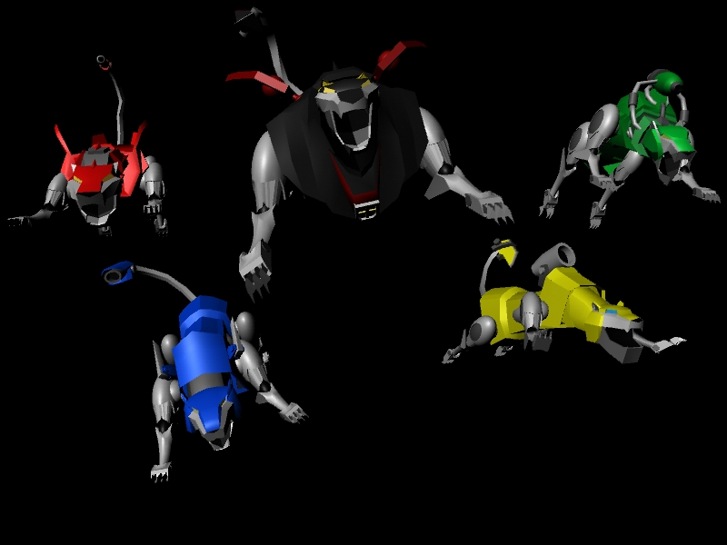Black lion voltron force