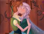 Elsanna week day 1: Kissing you.