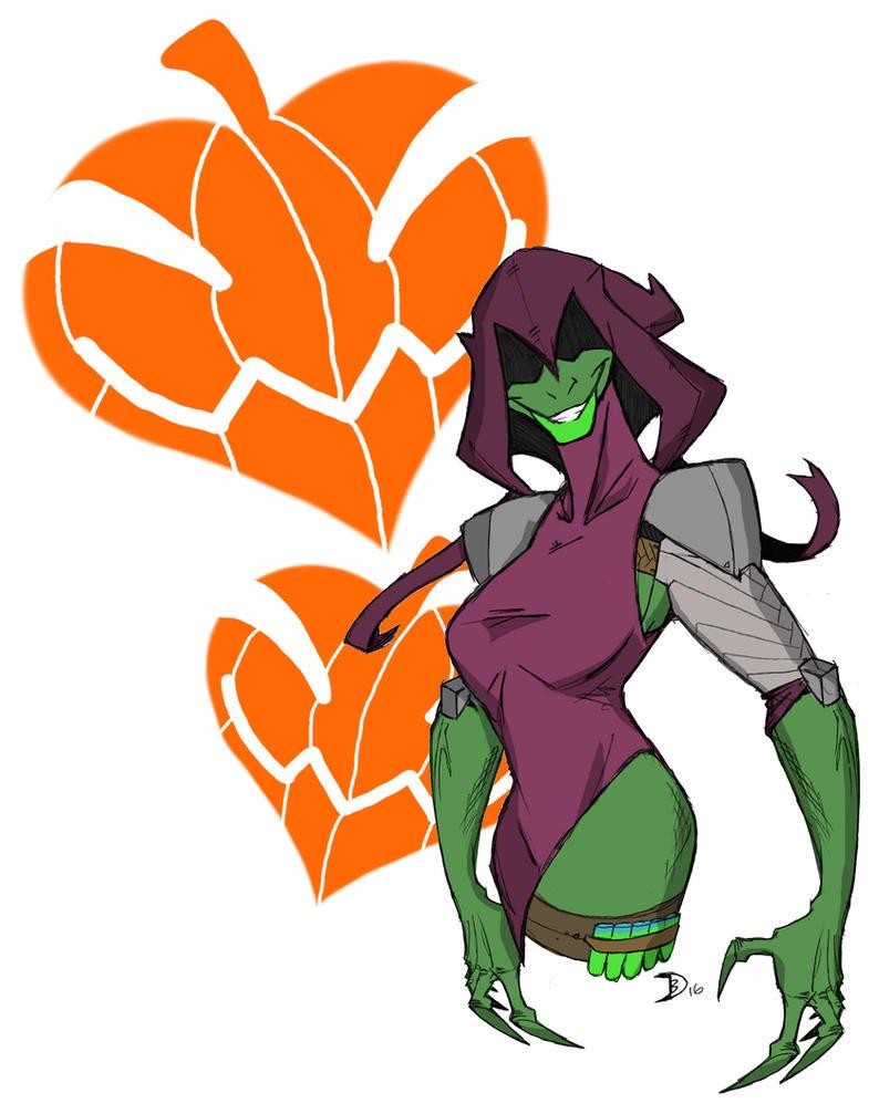 Green Gob-lady by Aonon