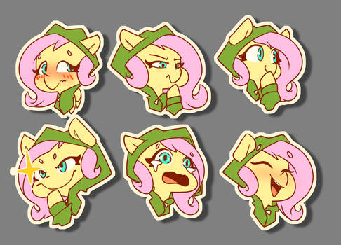 Hoodie Fluttershys commissioned from @lux_aestas
