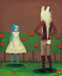 the white rabbit said to alice by Chaotic-Muffin