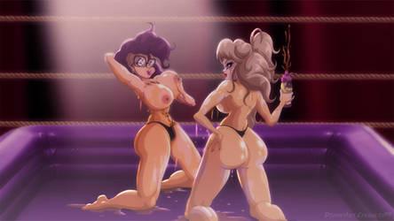 Becky Danger vs Helga Sperling (Commission) by DangerDoom69