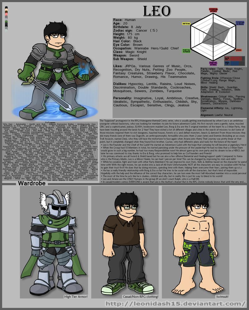 Character Bio - Leo by Leonidash15