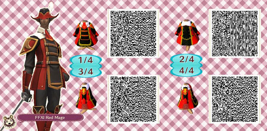 AC:NL Pattern - Red Mage FFXI by ShirakiYuki