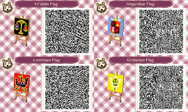AC:NL Eorzean Ailliance Flags FFXIV by ShirakiYuki