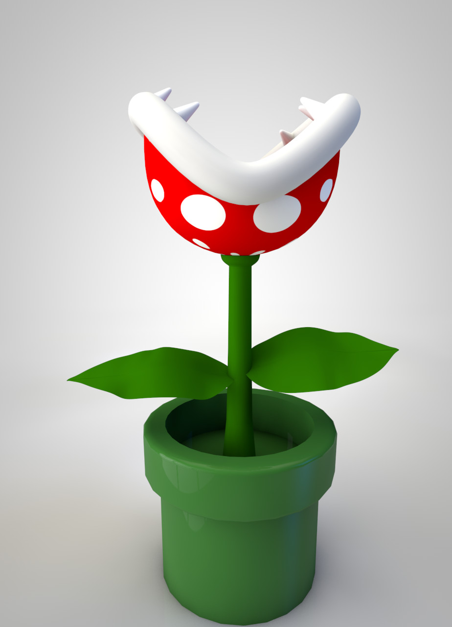 Piranha plant from super mario by the3dleopard on deviantart for Plante mario