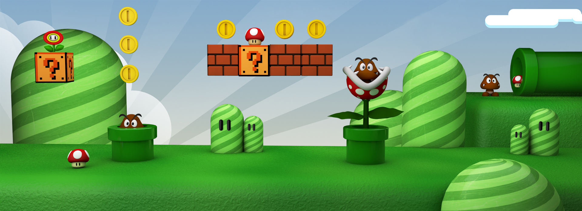 Super mario landscape by The3DLeopard